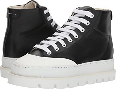 92bfdde0effc5 Amazon.com | Maison Margiela MM6 Womens Cap Toe Platform High Top | Shoes