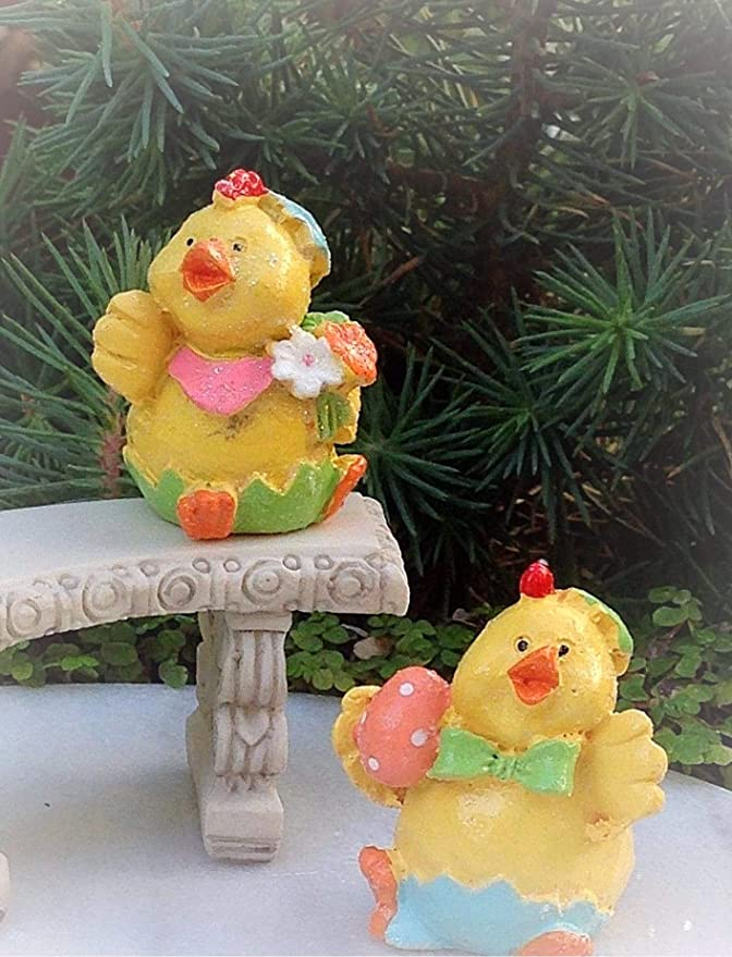 Miniature Dollhouse FAIRY GARDEN Accessories ~ TINY Wood Bucket with Eggs ~ NEW