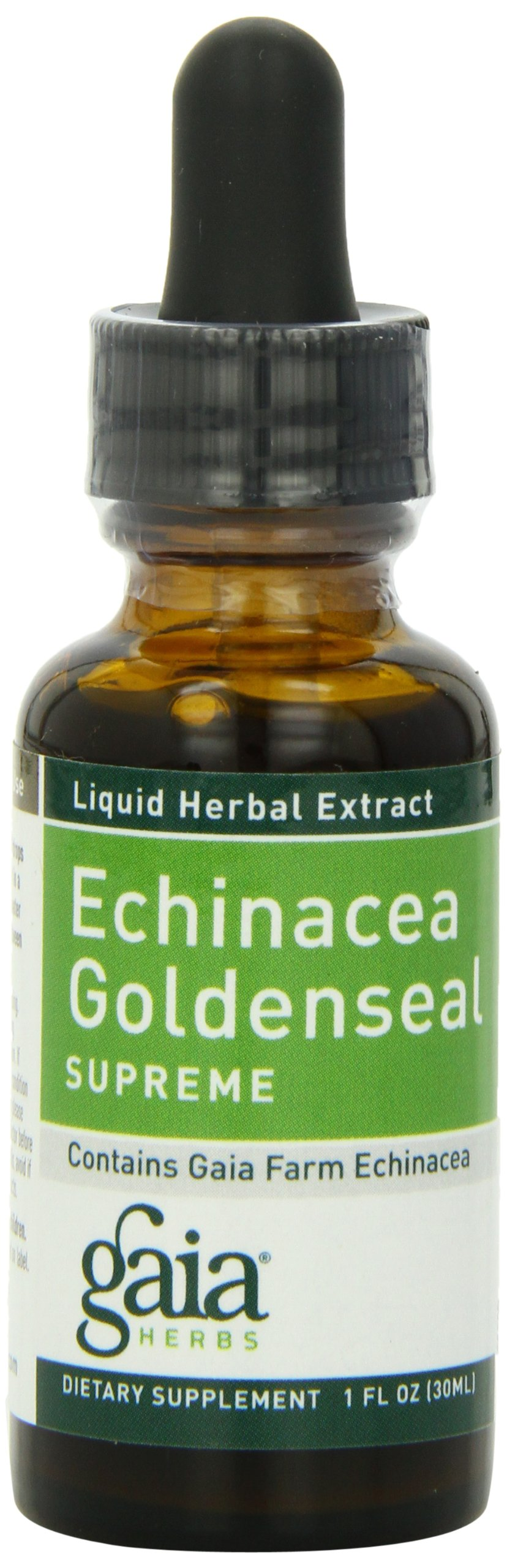 Gaia Herbs Echinacea Goldenseal Supreme 1-Ounce Bottle (Pack of 4)