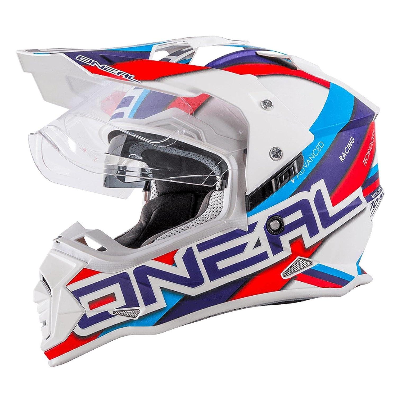 O'Neal Sierra II Helm Curcuit weiß blau Motorrad MX Motocross Enduro Offroad Quad, 0817-30, Größe XS (53/54cm) Größe XS (53/54cm) Oneal 0817-301