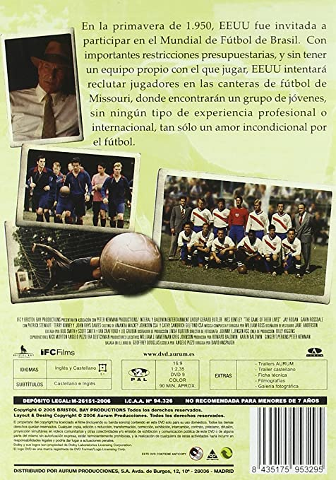 El Partido De Sus Vidas [DVD]: Amazon.es: Varios: Cine y Series TV