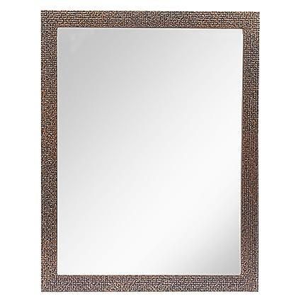 Buy 999store Dark Brown Fiber Framed Bathroom Mirror Online At Low