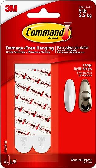 - 3 Pack Re-Hang Indoor Hooks 17023P-ES Command Refill Strips
