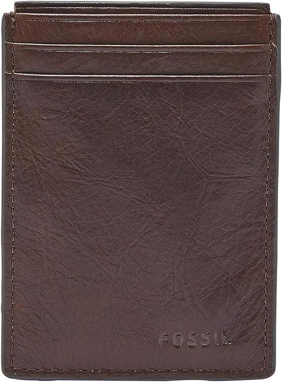 Fossil Men/'s Neel Magnetic Card Case Leather Wallet