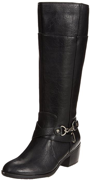 LifeStride Women's Whisper 2 Boot, Black Wide Calf, ...