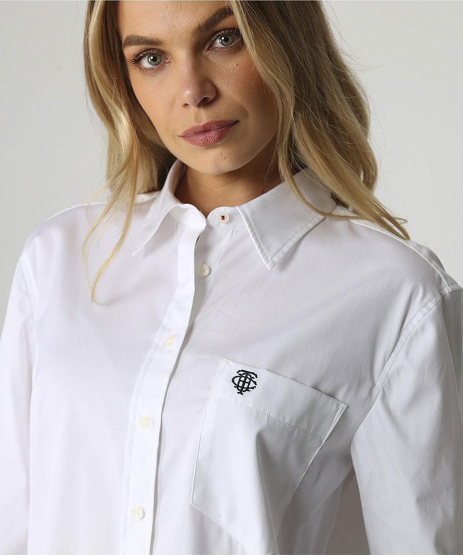 Tommy Hilfiger Delia Boyfriend camisa blanca para mujer ...