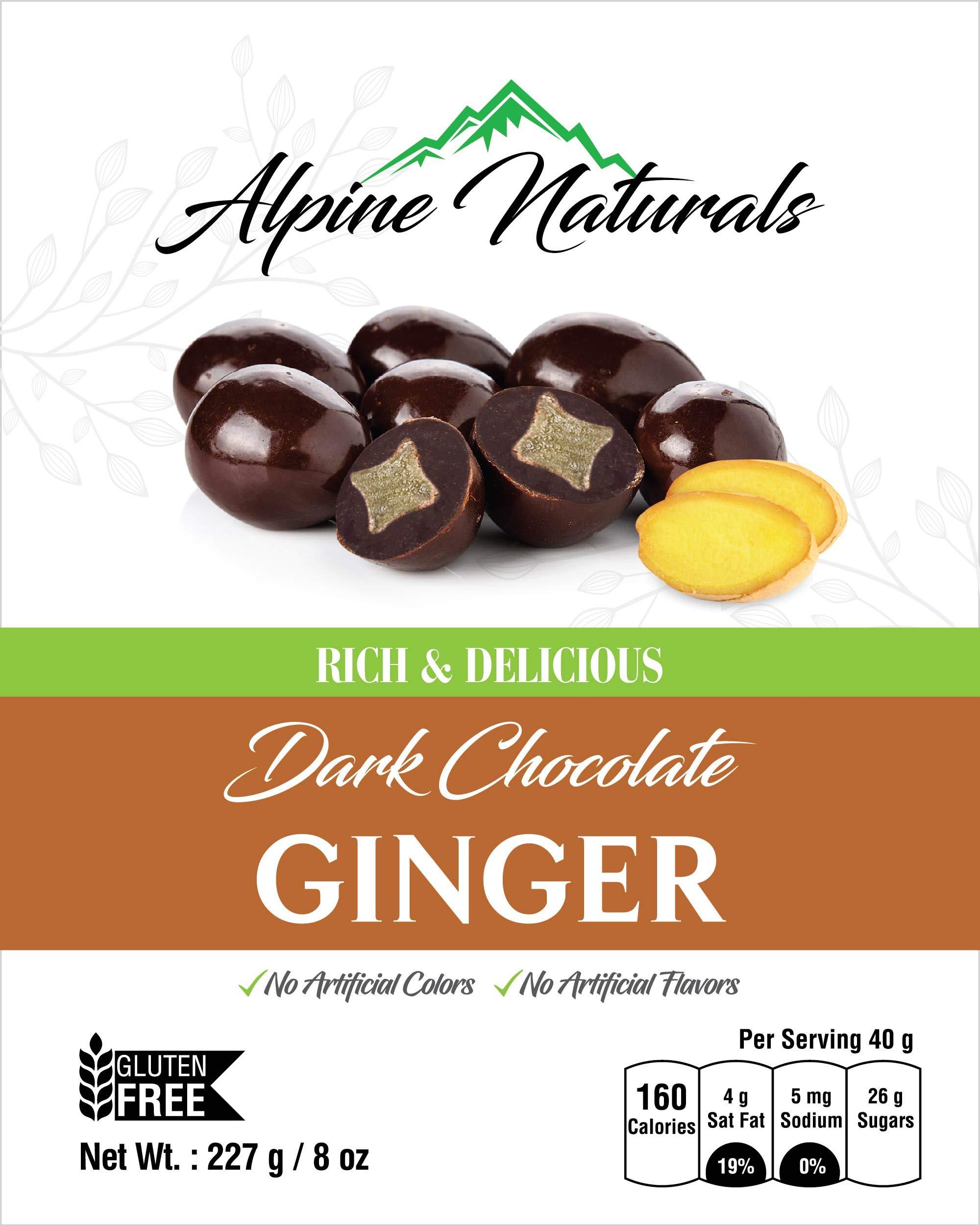 Alpine Naturals Dark Chocolate Ginger, 8 Ounce