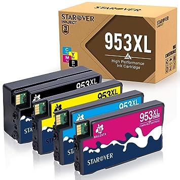 STAROVER 4 953 XL 953XL Cartuchos De Tinta Compatible Para HP ...