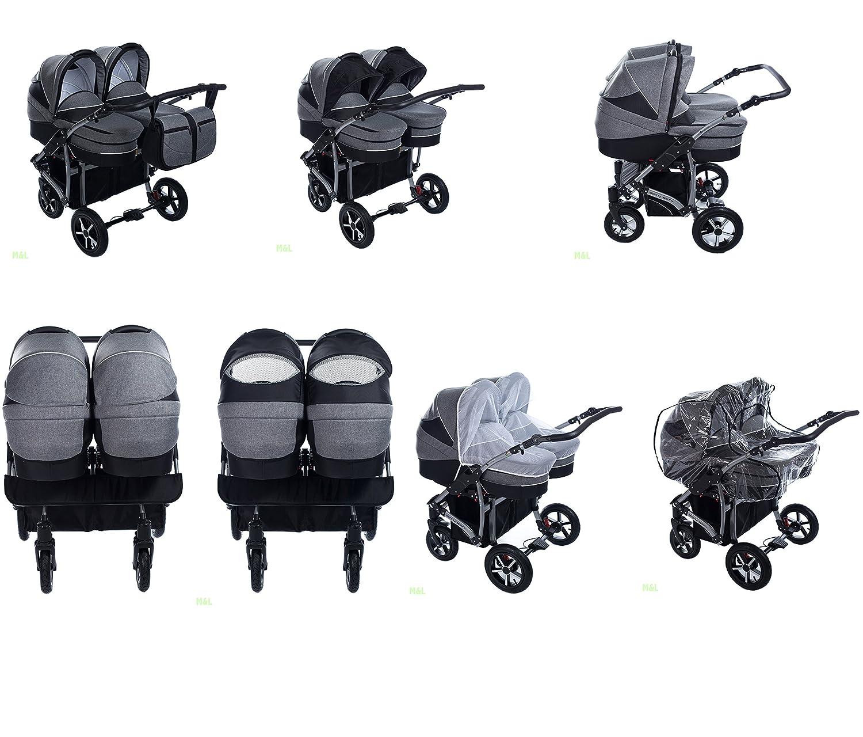 Zwillingskinderwagen mit babyschale  Clamaro 2 in 1