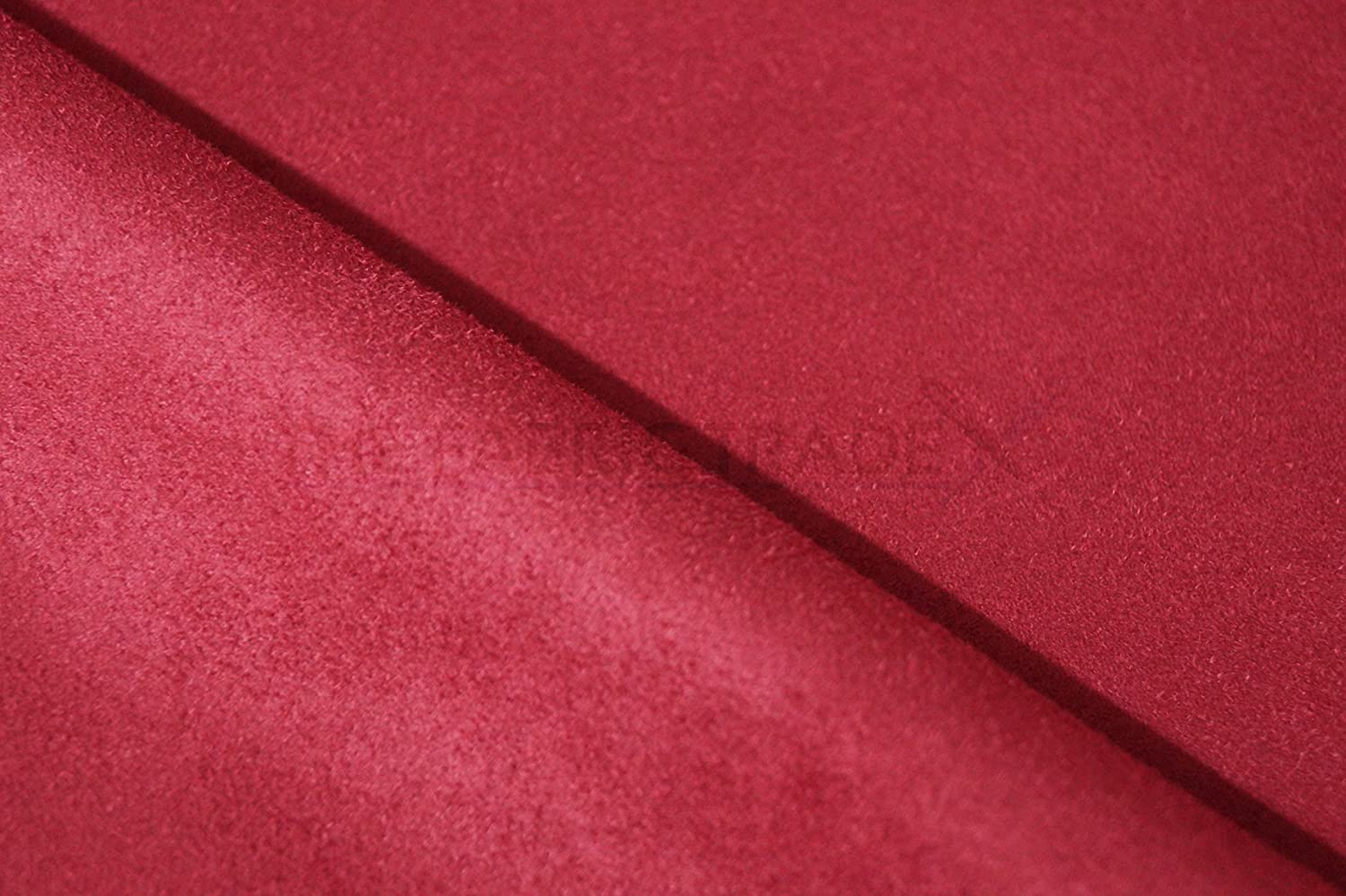 shoes for cheap exquisite design top quality Red Faux Suede Fabric - Sold Per Metre - 152cm Wide