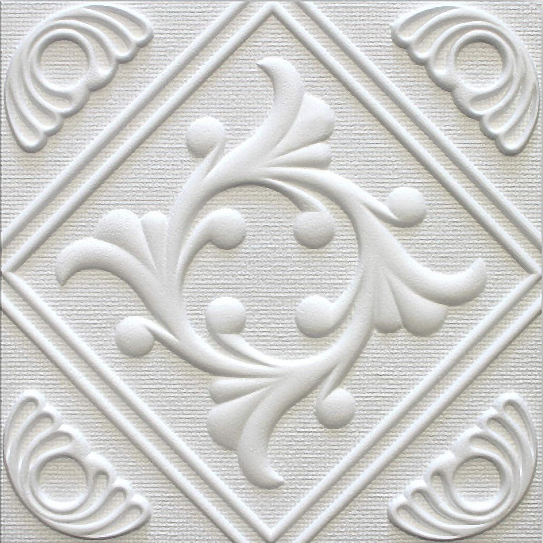 Polystyrene Ceiling Tiles Anet (Pack 64 pcs) 16 sqm White Marbet