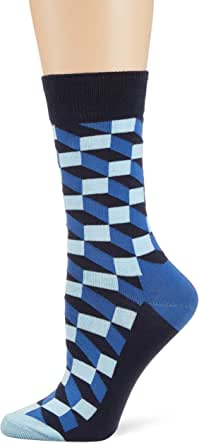 Happy Socks Unisex Filled Optic Sock, Multi, M/L