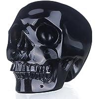 "mineralbiz nuevo estilo. réaliste 2.8""–3Natural Black Obsidian tallado"