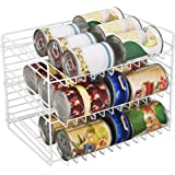 Smart Design 3-Tier Can Rack Organizer - Adjustable - Steel Metal Wire - Pantry, Spice, Cabinet, Under Sink, Fridge Storage O