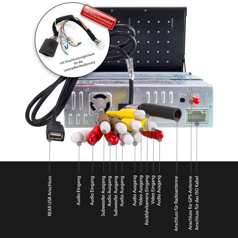 XOMAX XM-DTSBN929 Radio de Coche con GPS I Bluetooth I 7
