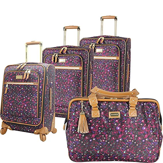 Steve Madden Luggage Honey 4 Piece Spinner Collection (Purple) best luggage set