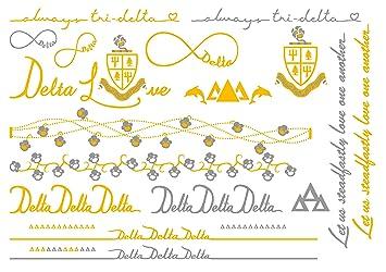 a list greek delta delta delta sorority metallic temporary