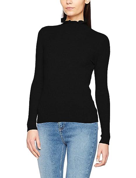New Look Ruffle Edge Neck, Jersey de cuello alto para Mujer: Amazon.es: Ropa y accesorios