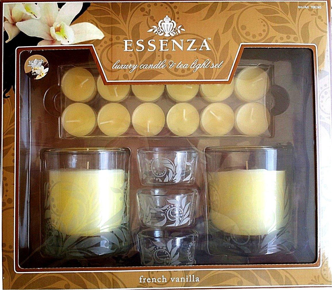 Essenza Luxury Candle & Tea Light Set by Essenza