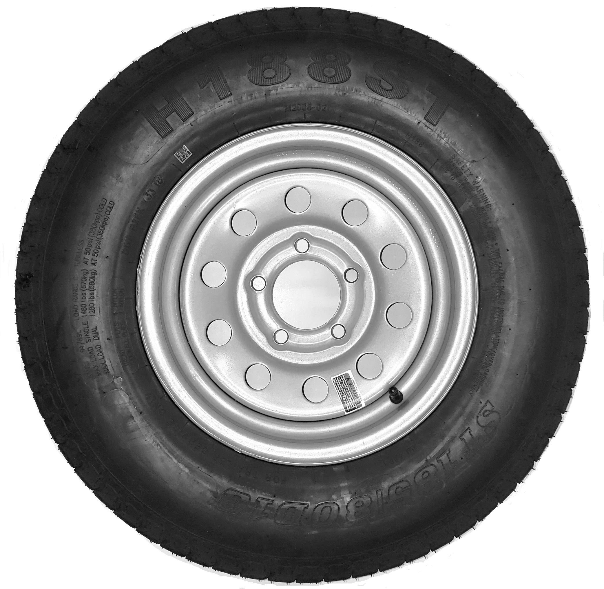 Amazon.com: Trailer Tire + Rim ST185/80D13 185/80D-13 13 ST Silver Modular Boat Camper RV: Automotive
