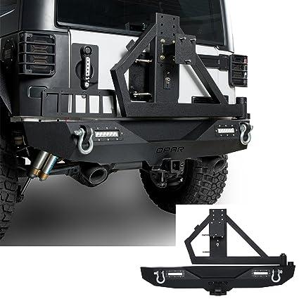 Marvelous Hooke Road 2007 2018 Jeep JK Rock Crawler Rear Bumper U0026 Spare Tire Rack W