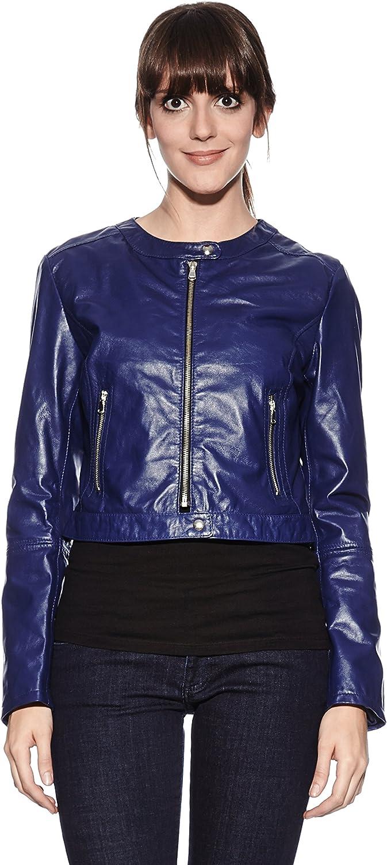 Mangotti Veste en Cuir Noir Taille S: : Vêtements
