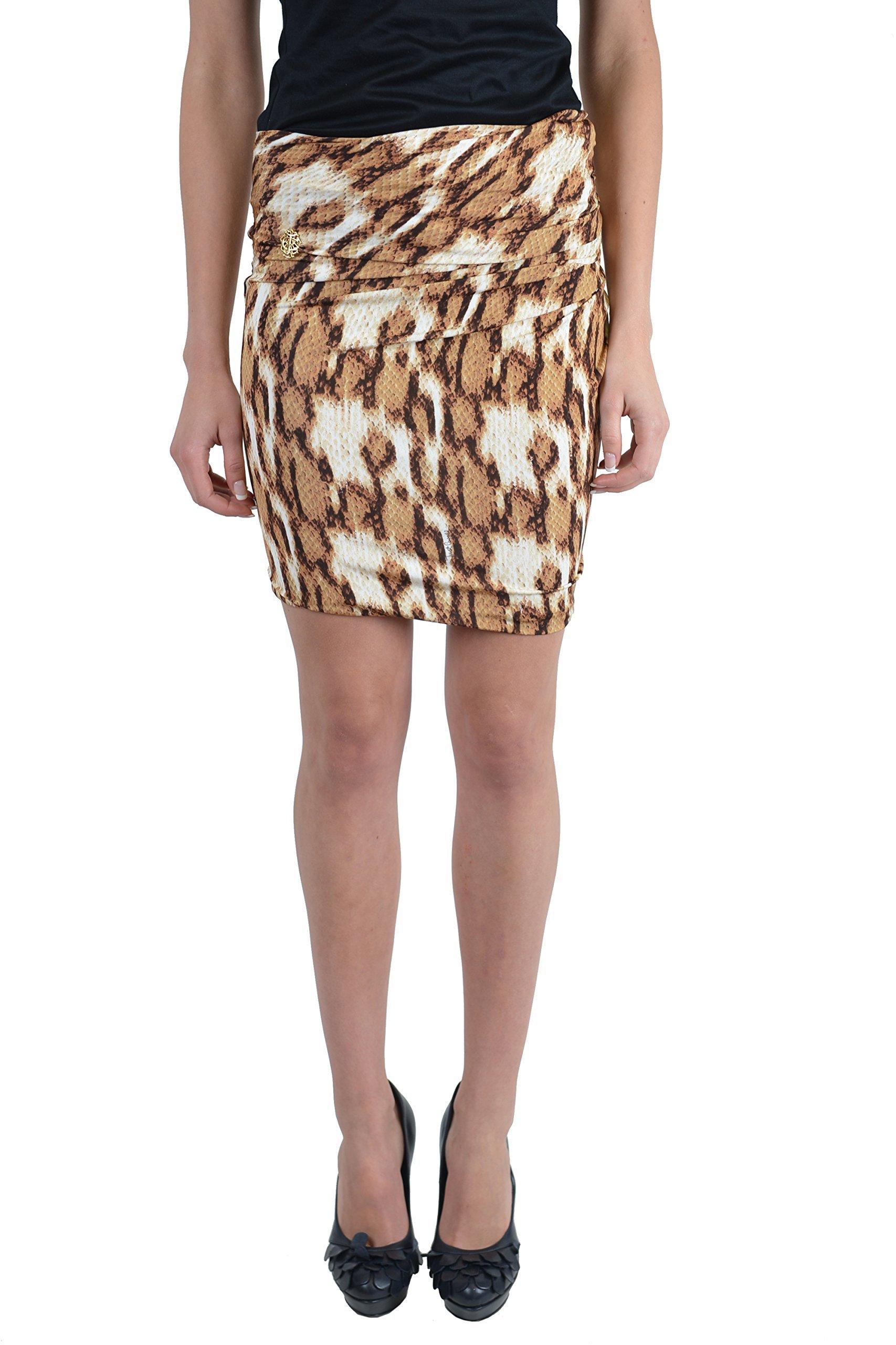 Just Cavalli Women's Stretch Mini Skirt US 12 / EU 48 Multi-Color