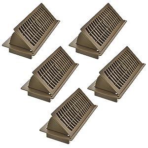 Imperial RG3061 Pop-Up Floor Register, 4 x 10-Inch, Tan, 5 Pack