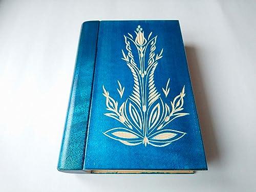 Gran azul magia misteriosa asistente de rompecabezas libro de caja ...