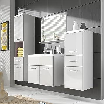 Mobile da bagno alba 60 cm lavabo bianco laccato - Mobiletto lavabo ...