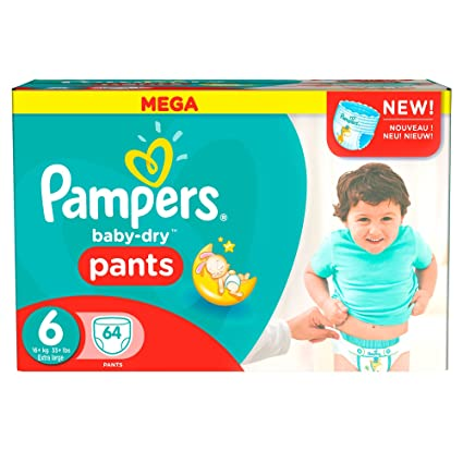Pampers – Baby Dry Pants – Pañales Talla 6 (+ 15 kg/XL)
