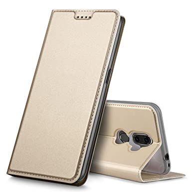 reputable site 1f799 d8d87 Alcatel 3V Case, Geemai Alcatel 3V Cover [Card Holder] [Magnetic Closure]  Premium Leather Flip Wallet Case Cover for Alcatel 3V Smartphone, Gold
