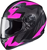 HJC CS-R3 Ladies Full Face Motorcycle Helmet Treague Graphic Flat Pink MC-8 (Medium)