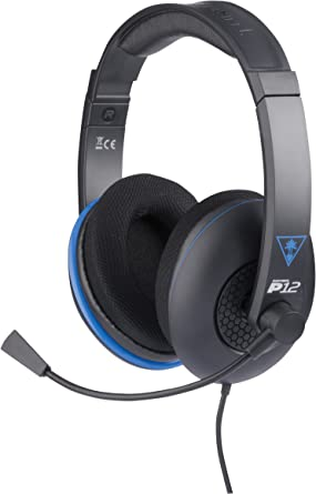 Turtle Beach - Ear Force P12 - Amplified Stereo Gaming Headset - PS4, PS Vita, and Mobile Devices - FFP by Turtle Beach: Amazon.es: Videojuegos