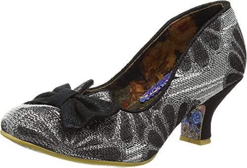Black Mid Heel Bow Shoes Irregular Choice /'Summer Breeze/' L