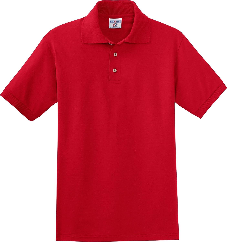 (ジャージーズ) Jerzees J100メンズ 6.1オンス厚手コットンジャージーポロ B00084Y7KM 4L|レッド(True Red) レッド(True Red) 4L