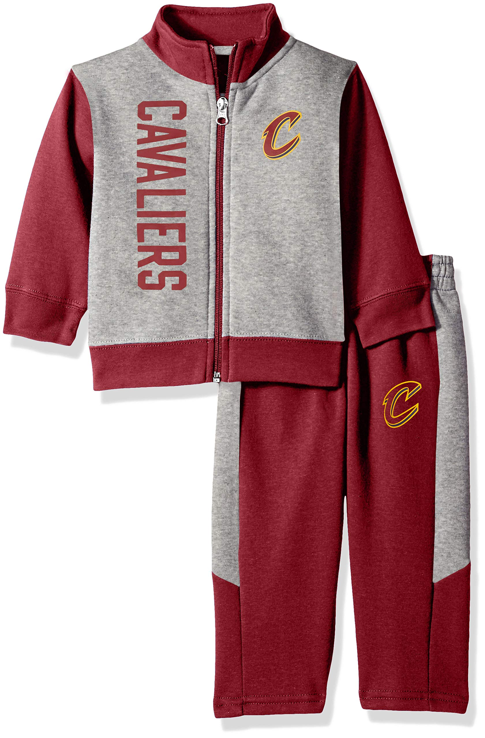 Outerstuff NBA NBA Infant Cleveland Cavaliers On The Line Jacket & Pants Fleece Set, Burgundy, 18 Months by Outerstuff