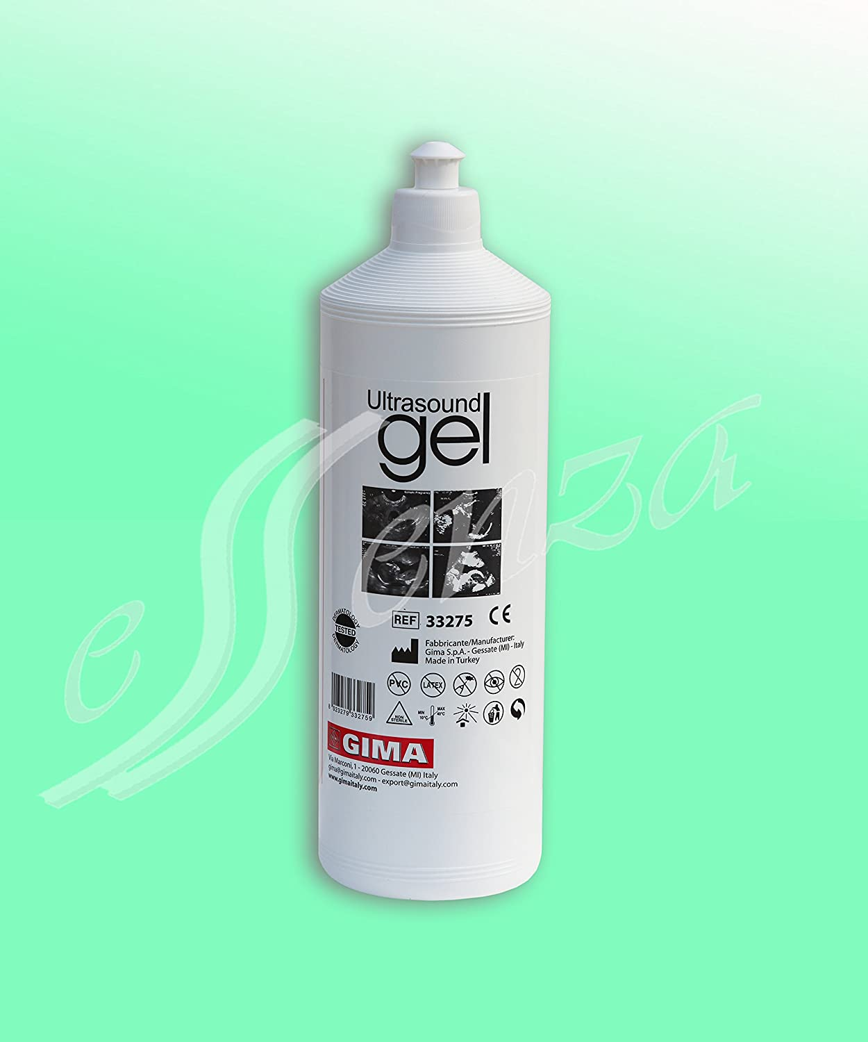 Gima 33275 Gel ultrasonidos (Botella 1 Litro, transparente para ...