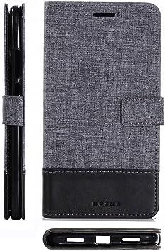 pinlu® Funda para Xiaomi MAX 2 Case de Piel PU 2 Colores Mezclados ...