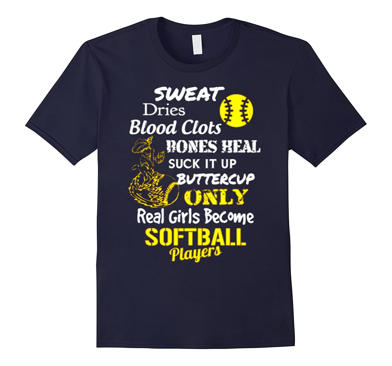 Real Girls Become Softball Players t shirt hoodie gift-BN