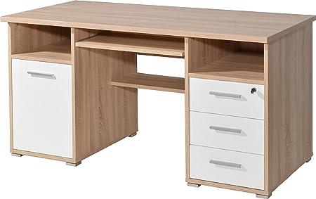 Amazonde Schreibtisch Sonoma Eiche Nachbildung Weiß