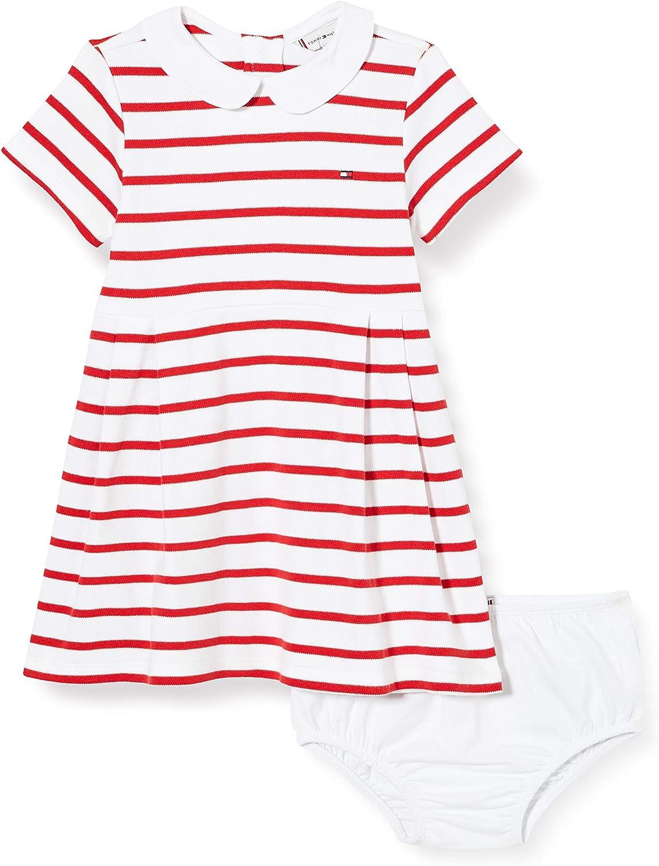 Tommy Hilfiger Baby Girl Rugby Stripe Dress S/S Blusa para Bebés