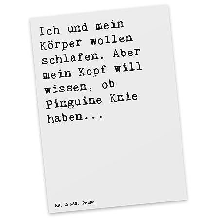 Mr Mrs Panda Postkarte Mit Spruch Ich Und Mein Körper Wollen