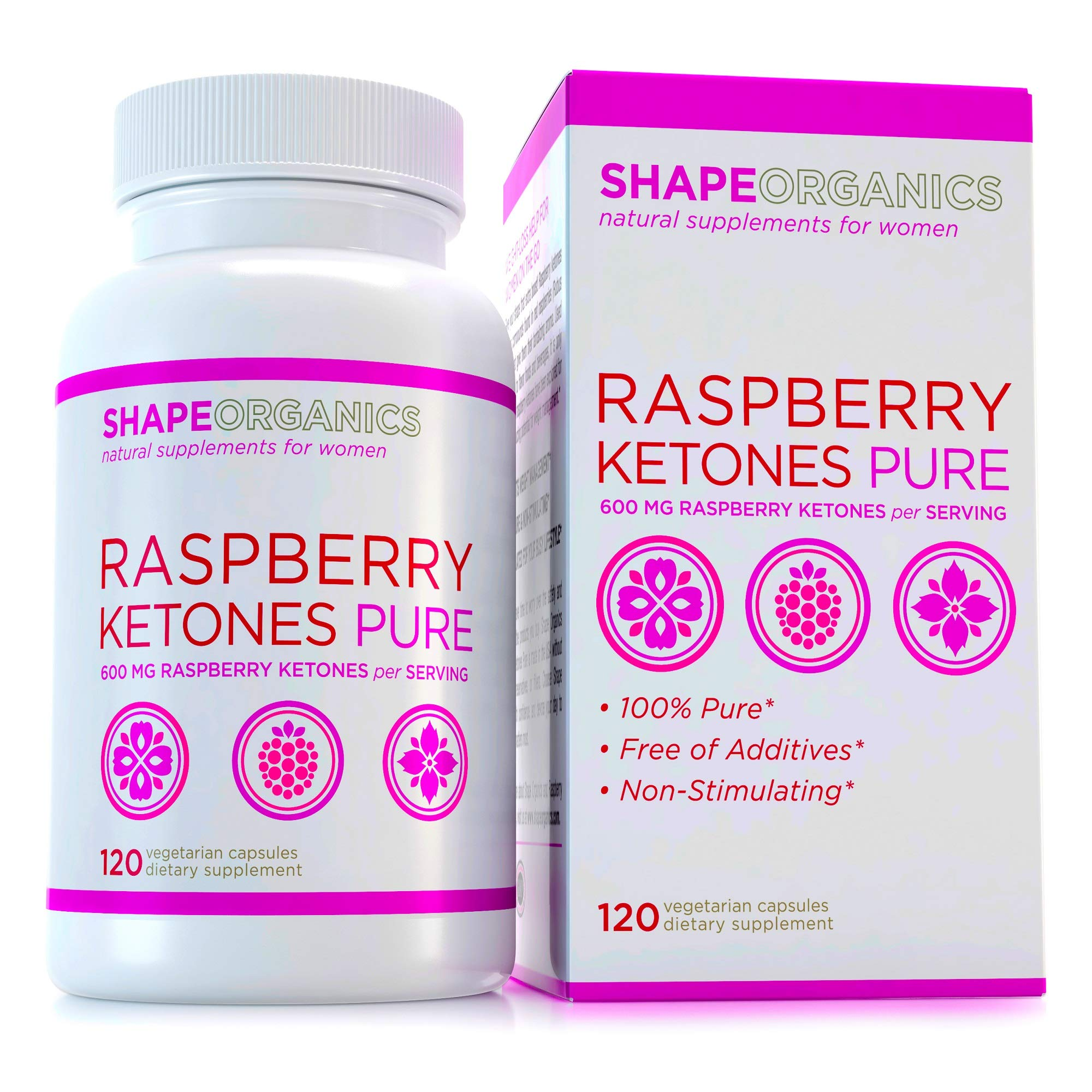 Strong Pure RASPBERRY KETONES Proven EFFECTIVE Fast Herbal Weight Loss Natural Appetite Suppressant LOSE WEIGHT, KEEP IT OFF Flat Belly EXTREME FAT BURN Diet Pill That Work for Women Weight Management by Shape Organics