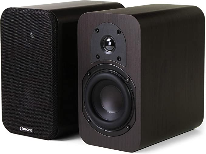 Amazon.com: Micca RB42 Reference Bookshelf Speaker with 4-Inch Woofer and Silk Tweeter (Dark Walnut, Pair): Home Audio & Theater