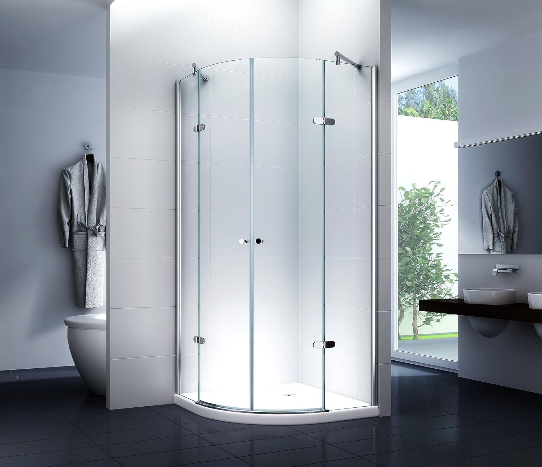 Cabina de ducha Cuadrante Mampara de ducha Virginia 90 x 90 x 190 cm/6 mm/con ducha Taza (cuarto circular (): Amazon.es: Bricolaje y herramientas