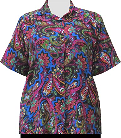 A Personal Touch Fuchsia Indian Dream Womens Plus Size Blouse