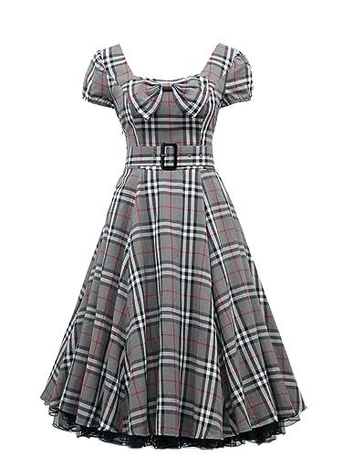 dress190Party vestito in stile Rockabilly, look vintage degli anni '/Anni', Ali maniche, a...