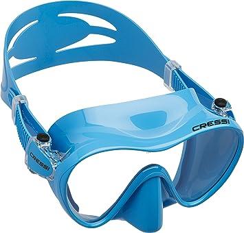 Cressi F1 - Gafas de Buceo sin Marco, Color Azul