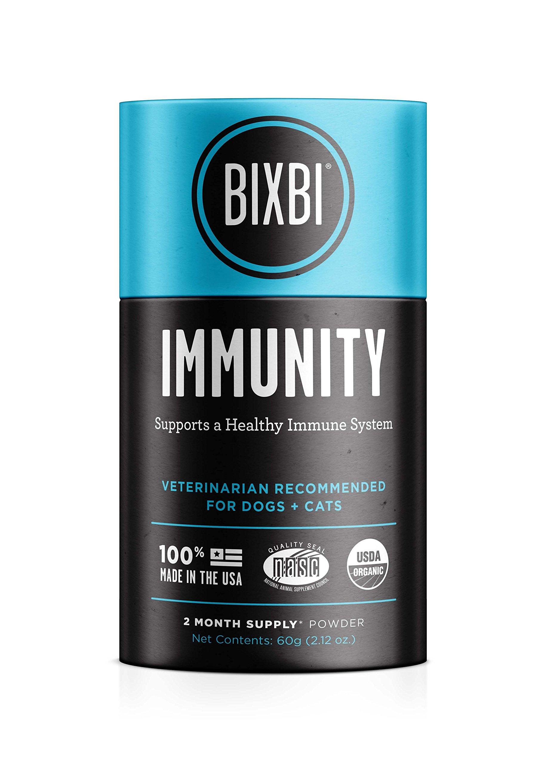 BIXBI Organic Pet Superfood Daily Dog & Cat Supplement, Immunity, 60 Grams